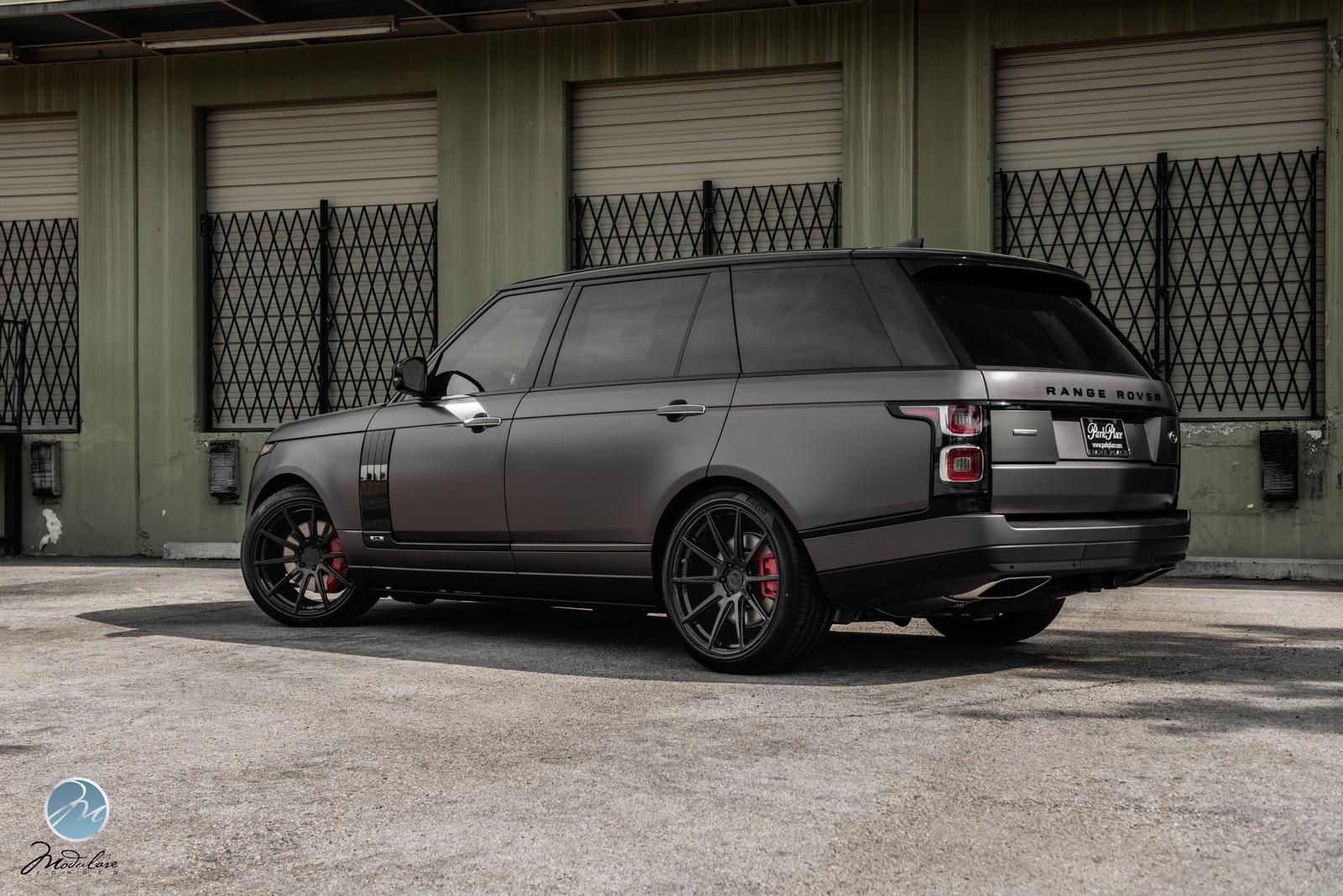 Modulare Wheels 2018 Range Rover Lwb Matte Grey 22 Modulare B15